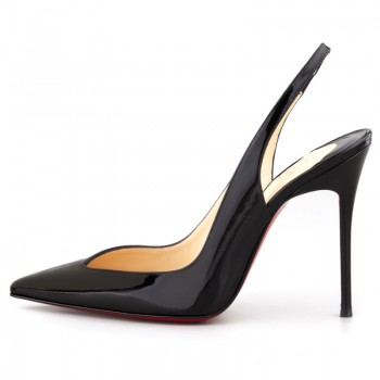 Replica Christian Louboutin Flueve 120mm Slingbacks Black Cheap Fake Shoes