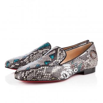 Replica Christian Louboutin Sakouette Loafers Black Cheap Fake Shoes
