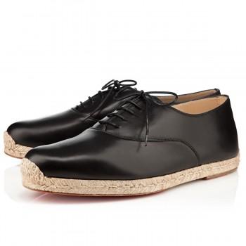 Replica Christian Louboutin Esparfred Sandals Black Cheap Fake Shoes
