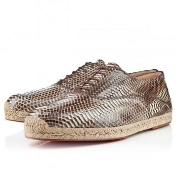 Replica Christian Louboutin Esparfred Sandals Stone Cheap Fake Shoes