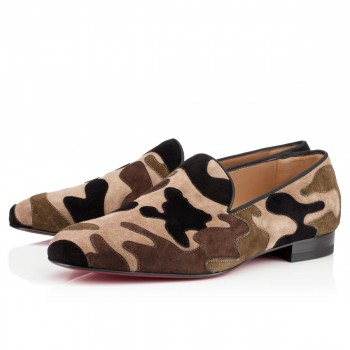 Replica Christian Louboutin Mercenaire Loafers Camouflage Cheap Fake Shoes