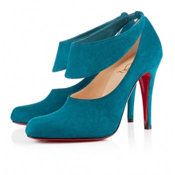 Replica Christian Louboutin Miss zorra 100mm Pumps Turquoise Cheap Fake Shoes
