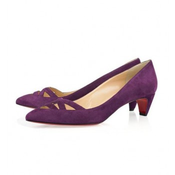 Replica Christian Louboutin Manue 40mm Pumps Purple Cheap Fake Shoes