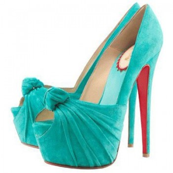 Replica Christian Louboutin Lady Gres 160mm Peep Toe Pumps Turquoise Cheap Fake Shoes