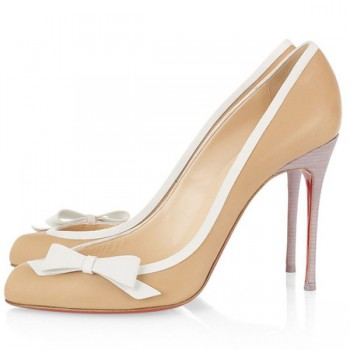 Replica Christian Louboutin Beauty 100mm Pumps Beige Cheap Fake Shoes