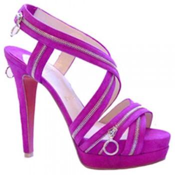 Replica Christian Louboutin Trailer 140mm Sandals Purple Cheap Fake Shoes