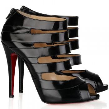Replica Christian Louboutin Gril 120mm Sandals Black Cheap Fake Shoes