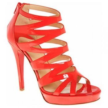 Replica Christian Louboutin Fernando 120mm Sandals Red Cheap Fake Shoes