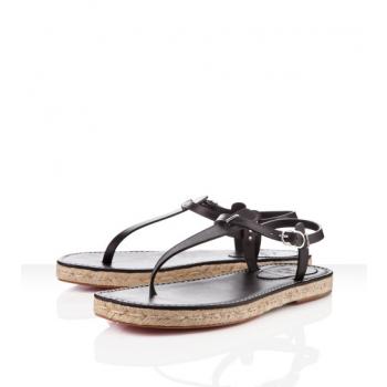 Replica Christian Louboutin Hovercraft Sandals Black Cheap Fake Shoes
