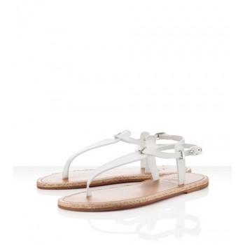 Replica Christian Louboutin Flanana Sandals White Cheap Fake Shoes