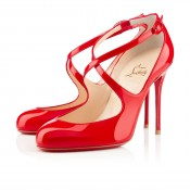 Christian Louboutin Viva Dita 100mm Mary Jane Pumps Red