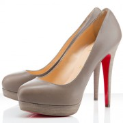 Replica Christian Louboutin Bianca 160mm Platforms Taupe Cheap Fake Shoes