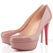 Replica Christian Louboutin Bianca 120mm Platforms Nude Cheap Fake Shoes