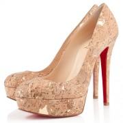 Replica Christian Louboutin Bianca 140mm Platforms Gold Cheap Fake Shoes