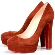 Replica Christian Louboutin Bianca 140mm Platforms Brown Cheap Fake Shoes