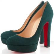Replica Christian Louboutin Bianca 140mm Platforms Green Cheap Fake Shoes