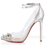 Replica Christian Louboutin Pivichic 120mm Pumps Silver Cheap Fake Shoes