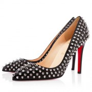 Replica Christian Louboutin Pigalle Spikes 100mm Pumps Black Cheap Fake Shoes
