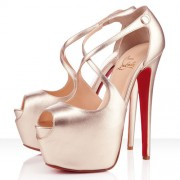Replica Christian Louboutin Exagona 160mm Sandals Platine Cheap Fake Shoes