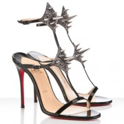 Replica Christian Louboutin Lady Max 100mm Sandals Black Cheap Fake Shoes
