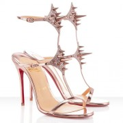 Replica Christian Louboutin Lady Max 100mm Sandals Nude Cheap Fake Shoes