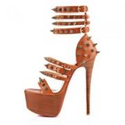 Replica Christian Louboutin Botticellita 160mm Sandals Fauve Cheap Fake Shoes