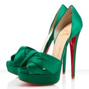 Replica Christian Louboutin Volpi 140mm Sandals Emeraude Cheap Fake Shoes