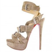 Replica Christian Louboutin Toutenkaboucle 140mm Sandals Nude Cheap Fake Shoes
