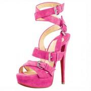 Replica Christian Louboutin Toutenkaboucle 140mm Sandals Rose Matador Cheap Fake Shoes