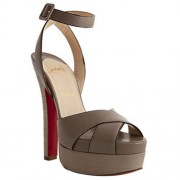 Replica Christian Louboutin Vivaeva 160mm Sandals Taupe Cheap Fake Shoes