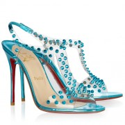 Replica Christian Louboutin J-Lissimo 100mm Sandals Caraibes Cheap Fake Shoes