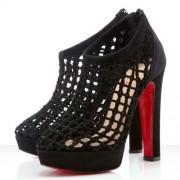 Replica Christian Louboutin Cousinetta 140mm Sandals Black Cheap Fake Shoes