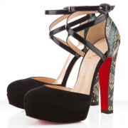 Replica Christian Louboutin La Favorita 140mm Sandals Green Cheap Fake Shoes
