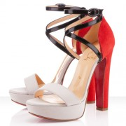 Replica Christian Louboutin Summerissima 140mm Sandals Nude Cheap Fake Shoes