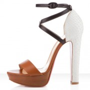 Replica Christian Louboutin Summerissima 140mm Sandals Brown Cheap Fake Shoes