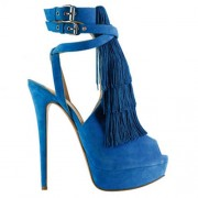 Replica Christian Louboutin Change Of The Guard 140mm Sandals Blue Cheap Fake Shoes