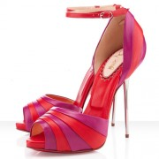 Replica Christian Louboutin Armadillo Bride 120mm Sandals Rose Matador Cheap Fake Shoes
