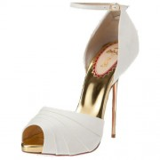 Replica Christian Louboutin Armadillo Bride 120mm Sandals White Cheap Fake Shoes