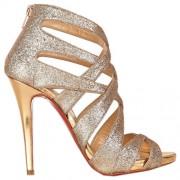 Replica Christian Louboutin Balota 120mm Sandals Gold Cheap Fake Shoes