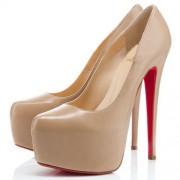 Replica Christian Louboutin Daffodile 160mm Platforms Nude Cheap Fake Shoes