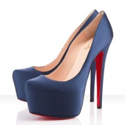 Replica Christian Louboutin Daffodile 160mm Platforms Blue Cheap Fake Shoes