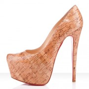Replica Christian Louboutin Daffodile 160mm Platforms Natural Cheap Fake Shoes