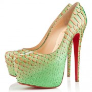 Replica Christian Louboutin Daffodile 160mm Platforms Menthe Cheap Fake Shoes
