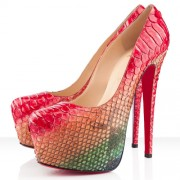 Replica Christian Louboutin Daffodile 160mm Platforms Multicolor Cheap Fake Shoes