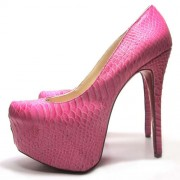 Replica Christian Louboutin Daffodile 160mm Platforms Pink Cheap Fake Shoes