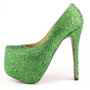 Replica Christian Louboutin Daffodile 160mm Platforms Green Cheap Fake Shoes