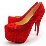 Replica Christian Louboutin Daffodile 160mm Platforms Rouge Lipstick Cheap Fake Shoes