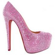 Replica Christian Louboutin Daffodile 160mm Platforms Pink Cheap Fake Shoes