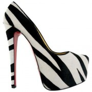 Replica Christian Louboutin Daffodile 160mm Platforms Zebra Cheap Fake Shoes