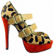 Replica Christian Louboutin Bikiki 140mm Mary Jane Pumps Leopard Cheap Fake Shoes